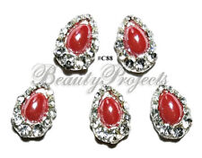 5pc Nail Art Charms 3D Nail Rhinestones Decoration Jewelry DIY Bling - C88