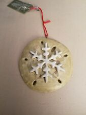 New Resin Snow Flake Sand Dollar Ornament. Midwest CBK