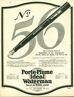 Publicité ancienne porte plume Waterman 1925 issue de  magazine Puybelle