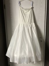 Poirier Reifrock Hochzeitskleid Größe XS - wie NEU - Ivory - Satin - 100€