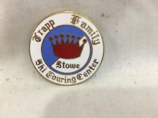 Vintage Alpine Downhill Skiing Pin STOWE  Trapp Family Ski Touring Center 1 1/4""