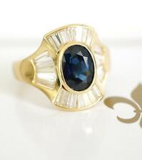 Exclusiver Ring mit Ceylon Safir + 1,55ct Diamanten in 750/000 Gelbgold  A2581