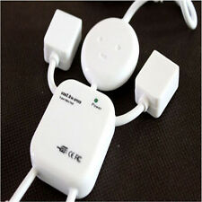 High Quality White Cute 4 Port Hub High-Speed USB 2.0 Humanoid Splitter Cable Ad