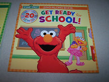 SESAME STREET GET READY FOR SCHOOL CD SING ALONG & SPACE PIZZA POP UP BOOK NWT