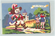 Postcard Le Chat Botte Puss and Boots Cats Novelty Pop Up Fairy Tale