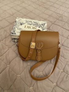 Dior Medium Bobby Hobo Box Leather Bag, Brown