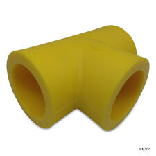 "Set Of 4 Central Plastic Yellow SF TEE Socket Fusion Gas Pipe Fitting 1.5"" IPS"