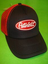 PETERBILT HAT :    Black foam front / Red mesh truckers cap  *FREE SHIP IN USA*
