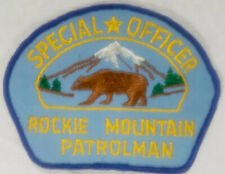 Rocky/Rockie Mountain Patrolman Special Officer Patch Vintage