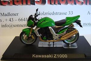 Kawasaki Z 1000 Green 2002 Top Model 1:24