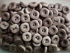 18mm 28L Light Brown Square 2 Hole Buttons Sewing Knitting Crafts Pack 10 (CC2)