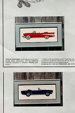 Lot of 2 1957 Chevy and Ford Mustang Cross Stitch Kits Studio M #117087 #117066