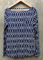 New Lilly Pulitzer Blue Talya Top Tickle the Ivories Pocket T-Shirt Tee
