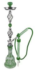"34"" Arabic Winds Green 1 Hose Hookah Package + Bonus Egyptian Style Shisha"