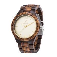 Wooden Quartz Men Watches Casual Wooden Leather Strap Watch Wood Wristwatch New