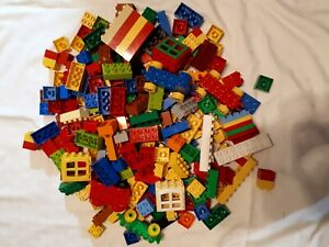Lego DUPLO - a 1/4 Kilo SELECTION OF MIXED BRICKS PIECES BLOCKS from picture