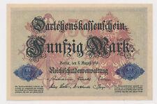 50 Mark 1914 Reichsbanknoten DEU-56b  Ro. 50  / Pick 49  Erh. 99 %  ( 585