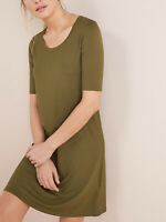 Women's Sizes 8,10,12,14,16,18 Next Khaki Short Sleeve Jersey T-Shirt Dress (b23