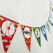 DINOSAUR TRAIN Banner Bunting Party Supplies Flag. Lolly Loot Bag Cake