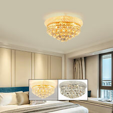 Modern 3-Color Light Crystal Chandeliers Ceiling Fixtures Home Lamps Lighting Us
