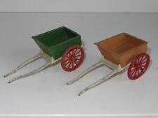 britains HORSE DRAWN CARTS (X2)