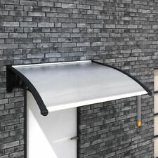 vidaXL Door Canopy 120x100cm Outdoor Porch Window Rain Awning Shelter Shade