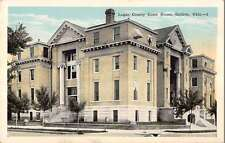 Guthrie Oklahoma birds eye view Logan Co Court House antique pc Z11642