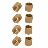 1/2BSP Female Thread Brass Pipe Fitting Straight Hex Rod Coupling Nut 8pcs