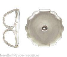 2x 925 Sterling Silver Earring Butterfly Backs Scrolls Large 7mm x 7.2mm
