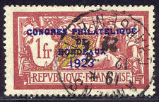 FRANCE #197 SCARCE Used - 1923 Bordeaux Congress Ovpt