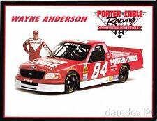1998 Wayne Anderson Porter Cable Ford F-150 NASCAR postcard