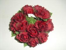 CORONA DI ROSE ROSSE - BASE CANDELE - diam. int. 3 cm/diam. est. 9 cm