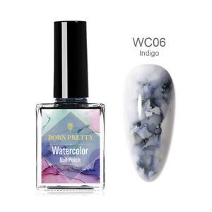 BORN PRETTY 15ml Blooming Nail Polish Watercolor Ink Marble Nail Art Varnish DIY