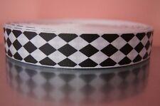 Webband 1204 Pinke Punkte auf Grün 25mm Breite Ripsband Borte