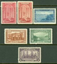 EDW1949SELL : CANADA 1938 Sc #241-45 Complete set. Includes #241a VFMNH Cat $244