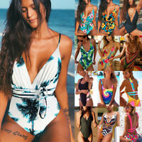Women Bandage Monokini One-Piece Bikini Swimwear Bathing Suit Swimsuit Costume O