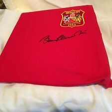 Sir Bobby Charlton signed Manchester United shirt -1963 FA Cup-black signature