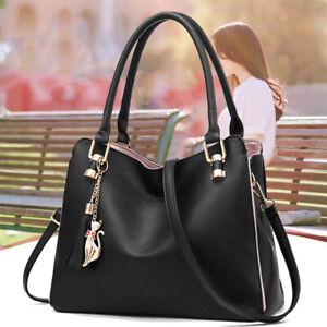 Women Faux Leather Shoulder Bag Handbags Messenger Crossbody Satchel Tote Purse