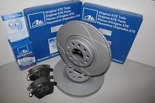 ATE Powerdisc Bremsscheiben + Beläge + WK Vorderachse(VA) für MERCEDES-BENZ SLK