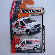 2014 Matchbox 80/120. Renault Master Ambulance. MBX Heroic Rescue. New in Pack!