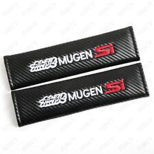 2X Carbon Fiber Car Seat Belt Cover Safety Pads Shoulder Cushion For MUGEN SI