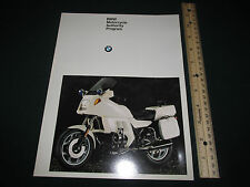 Vintage 1993 BMW Motorcycle Authority Program Brochure Catalog Police Blue Light