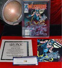 Rare Signé Stan Lee Autographe Marvel Wolverine Bd 1, Pgx NM 9.4, COA Not Cgc