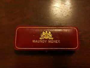Maundy Money Edward VII Coin Set of 4 Coins with Case 1909, Very Good Condition