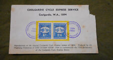 #D365. 1964 REPRODUCTION OS 1894 COOLGARDIE CYCLE EXPRESS SERVICE STAMPS