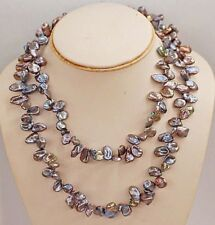 "36"" Cultured Fresh Water Keishi Pearl Necklace (Endless)"