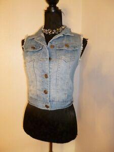 Denim Gilet Waist coat waistcoat Size 8 By Denim & Co