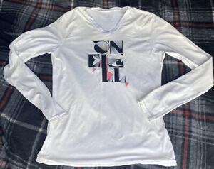 O'Neill White Long Sleeve Shirt Small SPF 30