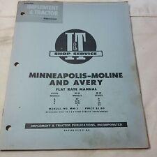 Mm 3 Iampt Flat Rate Manual Minneapolis Moline A Bf Gta Gtb V Avery Tractors R U