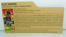 GI Joe File Card for Iron Grenadier v6 2008 25th Anniversary Series